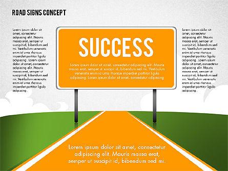 Business Words on Road Signs, Slide 2, 02094, Business Models — PoweredTemplate.com
