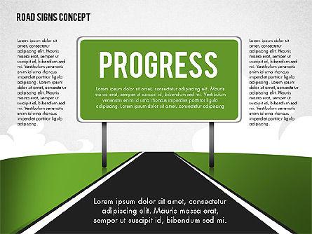 Business Words on Road Signs, Slide 3, 02094, Business Models — PoweredTemplate.com