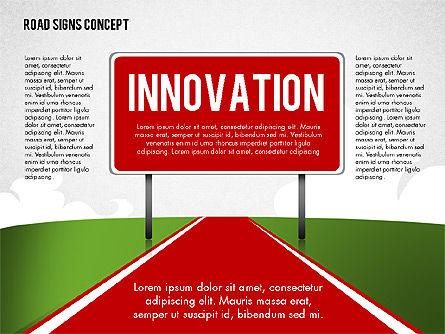 Business Words on Road Signs, Slide 4, 02094, Business Models — PoweredTemplate.com