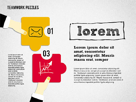 Teamwork Puzzles, Slide 2, 02098, Puzzle Diagrams — PoweredTemplate.com
