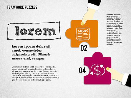 Teamwork Puzzles, Slide 3, 02098, Puzzle Diagrams — PoweredTemplate.com