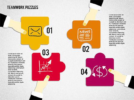 Teamwork Puzzles, Slide 4, 02098, Puzzle Diagrams — PoweredTemplate.com