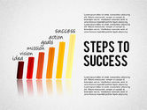 Stage Diagrams: Steps to Success Bar Chart #02099