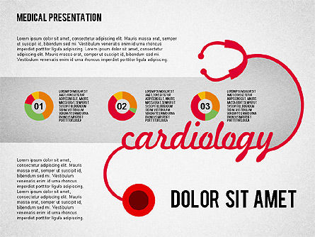 Cardiology Presentation , Slide 4, 02101, Medical Diagrams and Charts — PoweredTemplate.com
