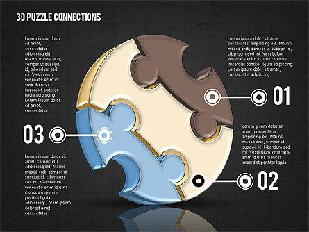 Colorful 3D Puzzle, Slide 10, 02103, Puzzle Diagrams — PoweredTemplate.com