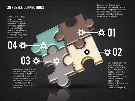 Colorful 3D Puzzle, Slide 11, 02103, Puzzle Diagrams — PoweredTemplate.com