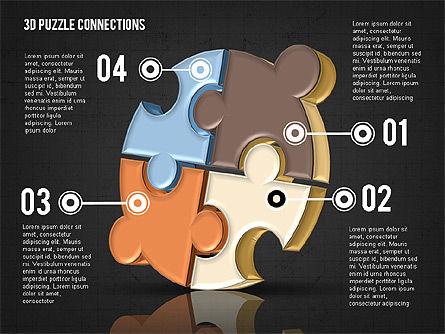 Colorful 3D Puzzle, Slide 14, 02103, Puzzle Diagrams — PoweredTemplate.com