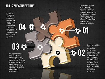 Colorful 3D Puzzle, Slide 15, 02103, Puzzle Diagrams — PoweredTemplate.com