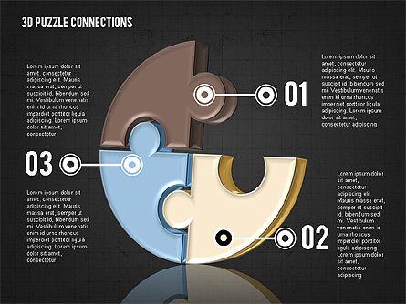 Colorful 3D Puzzle, Slide 16, 02103, Puzzle Diagrams — PoweredTemplate.com