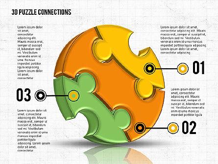 Colorful 3D Puzzle, Slide 2, 02103, Puzzle Diagrams — PoweredTemplate.com