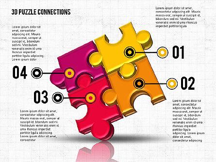 Colorful 3D Puzzle, Slide 3, 02103, Puzzle Diagrams — PoweredTemplate.com
