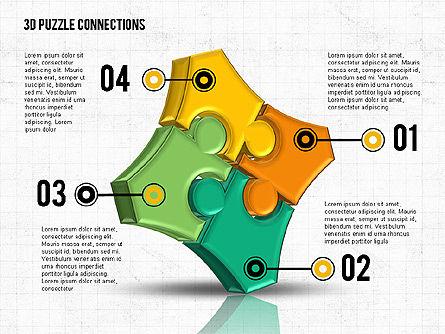 Colorful 3D Puzzle, Slide 4, 02103, Puzzle Diagrams — PoweredTemplate.com