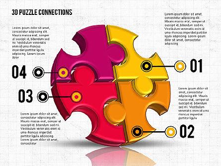 Colorful 3D Puzzle, Slide 5, 02103, Puzzle Diagrams — PoweredTemplate.com