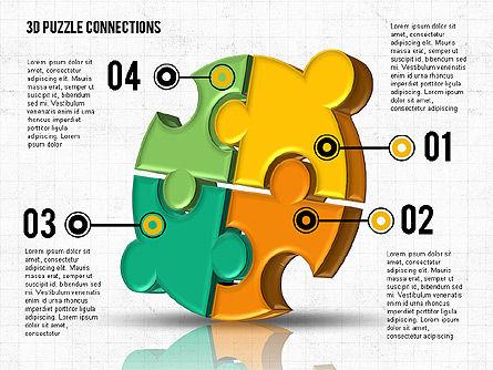 Colorful 3D Puzzle, Slide 6, 02103, Puzzle Diagrams — PoweredTemplate.com