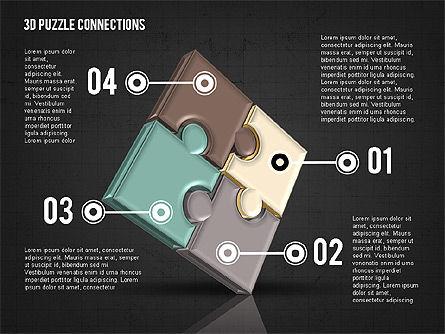 Colorful 3D Puzzle, Slide 9, 02103, Puzzle Diagrams — PoweredTemplate.com