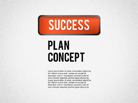 Successful Plan Presentation Concept, 02104, Business Models — PoweredTemplate.com