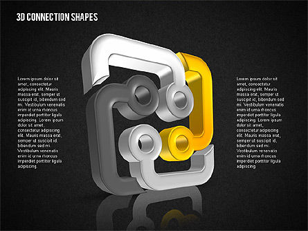 Intricate 3D Shapes, Slide 11, 02107, Shapes — PoweredTemplate.com