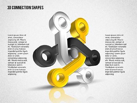 Intricate 3D Shapes, Slide 2, 02107, Shapes — PoweredTemplate.com