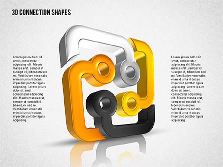 Intricate 3D Shapes, Slide 3, 02107, Shapes — PoweredTemplate.com