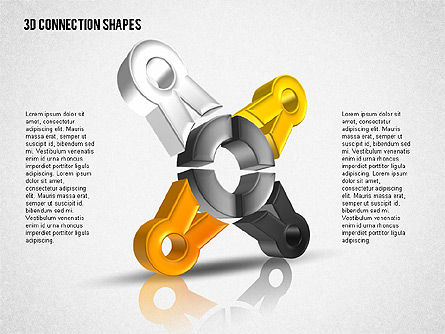 Intricate 3D Shapes, Slide 4, 02107, Shapes — PoweredTemplate.com
