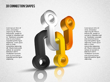 Intricate 3D Shapes, Slide 5, 02107, Shapes — PoweredTemplate.com