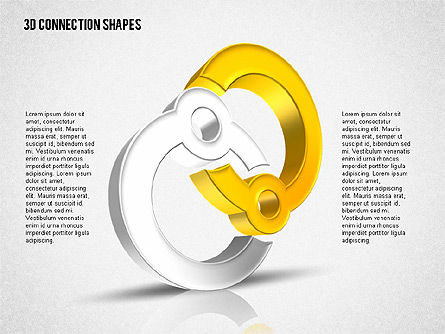 Intricate 3D Shapes, Slide 7, 02107, Shapes — PoweredTemplate.com