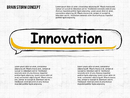 Brainstorm Concept, Slide 2, 02108, Shapes — PoweredTemplate.com