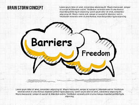 Brainstorm Concept, Slide 3, 02108, Shapes — PoweredTemplate.com