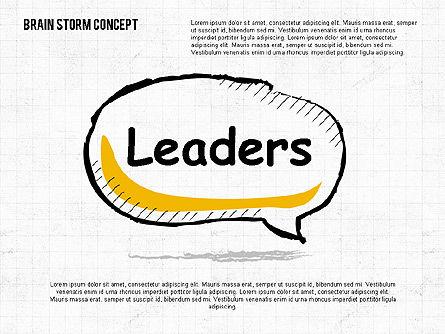 Brainstorm Concept, Slide 4, 02108, Shapes — PoweredTemplate.com