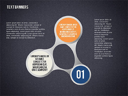 Connected Shapes with Numbers, Slide 9, 02110, Text Boxes — PoweredTemplate.com