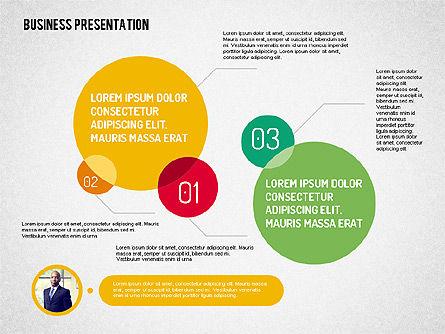 Business Presentation with Flat Shapes, Slide 2, 02111, Presentation Templates — PoweredTemplate.com