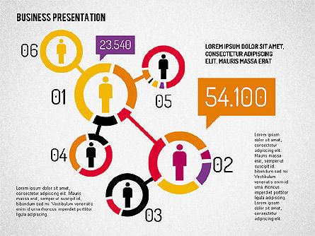 Business Presentation with Flat Shapes, Slide 3, 02111, Presentation Templates — PoweredTemplate.com