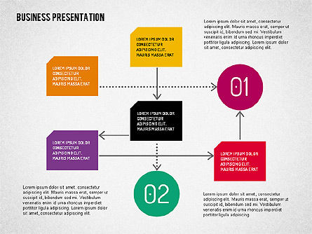 Business Presentation with Flat Shapes, Slide 4, 02111, Presentation Templates — PoweredTemplate.com