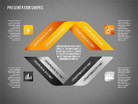 Origami Style Options and Shapes, Slide 14, 02114, Business Models — PoweredTemplate.com