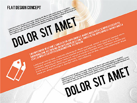 Presentation Templates: Modern Flat Design Presentation with Photo #02115