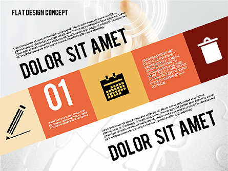 Modern Flat Design Presentation with Photo, Slide 2, 02115, Presentation Templates — PoweredTemplate.com