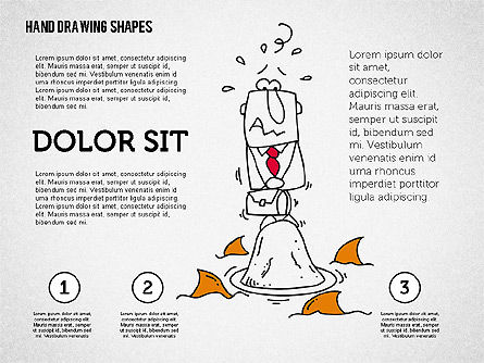 Hand Drawn Funny Character, Slide 2, 02116, Shapes — PoweredTemplate.com
