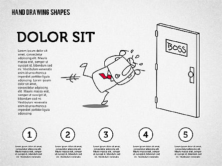 Hand Drawn Funny Character, Slide 8, 02116, Shapes — PoweredTemplate.com