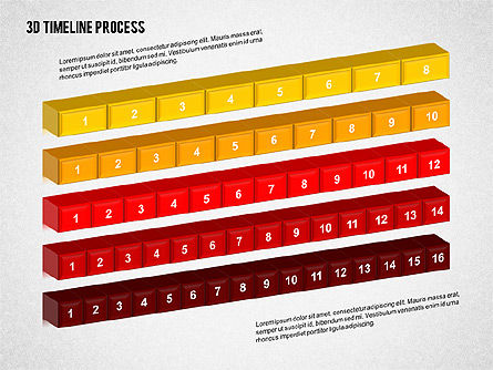 3D Timeline Process, Slide 2, 02121, Timelines & Calendars — PoweredTemplate.com