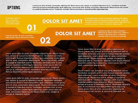 Options with Photo on Background, Slide 2, 02122, Presentation Templates — PoweredTemplate.com