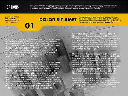 Options with Photo on Background, Slide 9, 02122, Presentation Templates — PoweredTemplate.com