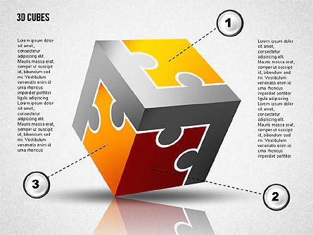 Puzzle Cube, 02124, Puzzle Diagrams — PoweredTemplate.com
