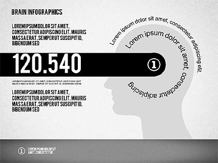 Brain Infographics, Slide 2, 02125, Stage Diagrams — PoweredTemplate.com