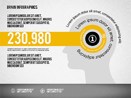 Brain Infographics, Slide 3, 02125, Stage Diagrams — PoweredTemplate.com