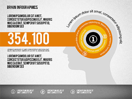 Brain Infographics, Slide 4, 02125, Stage Diagrams — PoweredTemplate.com