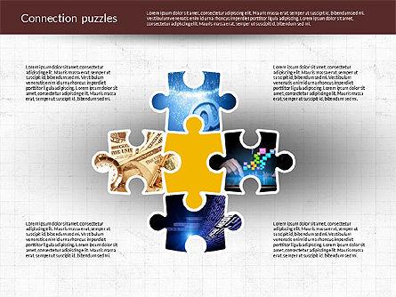Presentation with Puzzle Pieces, Slide 2, 02132, Puzzle Diagrams — PoweredTemplate.com