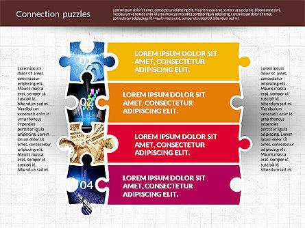 Presentation with Puzzle Pieces, Slide 3, 02132, Puzzle Diagrams — PoweredTemplate.com
