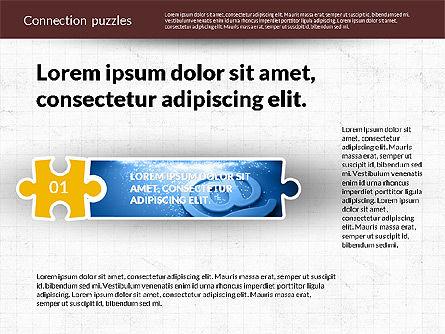 Presentation with Puzzle Pieces, Slide 4, 02132, Puzzle Diagrams — PoweredTemplate.com