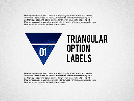 Stage Diagrams: Set Of Triangular Option Labels #02133