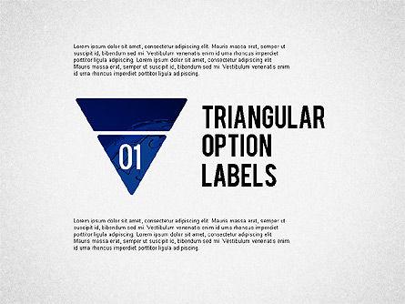 Stage Diagrams: 三角形のオプションラベルのセット #02133
